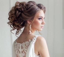 Прическа (вечерняя, свадебная)