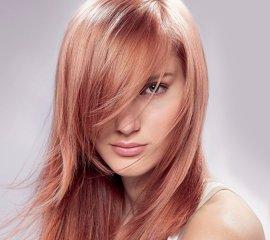 Окрашивание в 1 тон волос средней длины