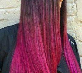 Креативное окрашивание экстра-длинных волос