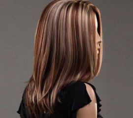 Мелирование (волосы средней длины)