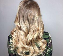 Блондирование длинных волос