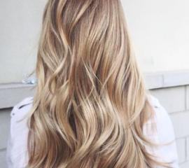 Блондирование экстра-длинных волос